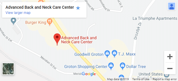 Map of Groton CT Chiropractic